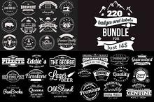 220 Retro Badges and Labels Bundle