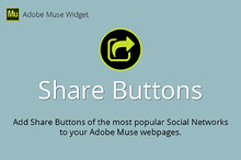 Share Buttons Adobe Muse Widget