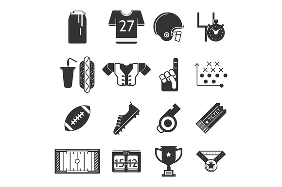 Sport vector icon. American football - Icons
