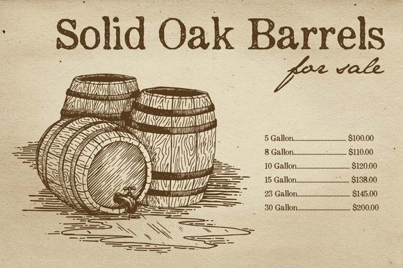 Illustrated Barrels Vector