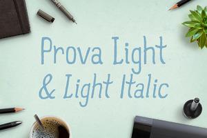 Prova Light & Light Italic