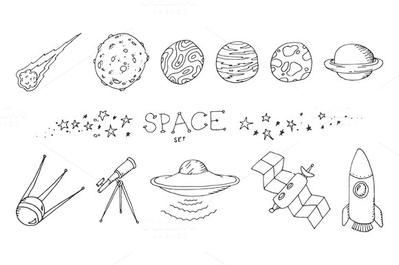 astronomy doodles - photo #20