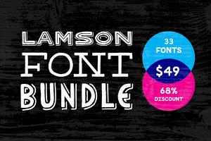 Lamson 33 Font Bundle (68% Off)