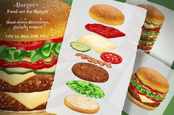 Burger Food Set