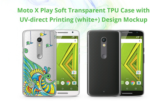 Moto X Play TPU Case UV Print Mockup