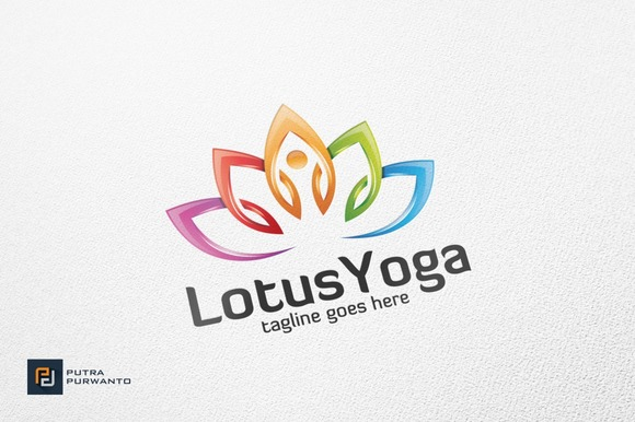Lotus Yoga Logo Template