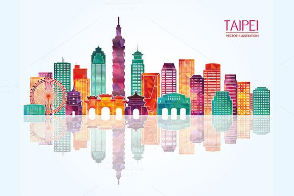 Taipei Detailed Skyline