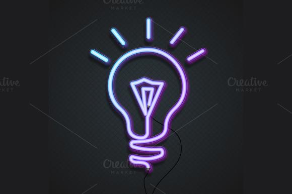 Neon Lamp. Vector - Illustrations