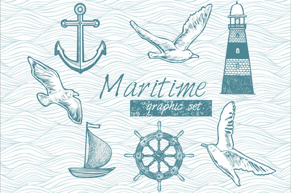 Maritime Graphic Set
