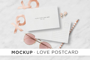 Mockup - Love Postcard