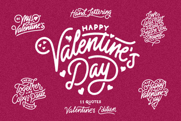 Valentine S Day Hand Lettering
