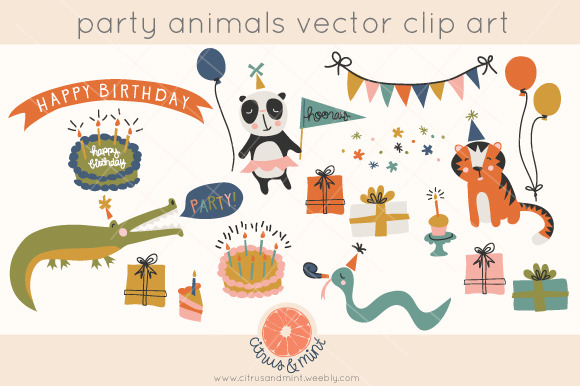 Vector Birthday Party Clipart
