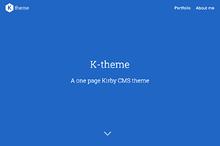 K-theme for Kirby 2 CMS