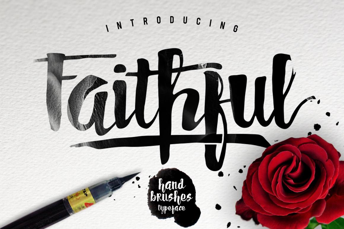 FAITHFUL Typeface - Script - 1