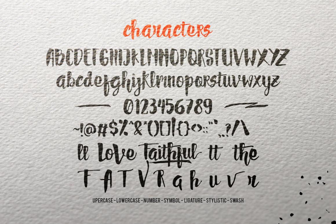 FAITHFUL Typeface - Script - 4