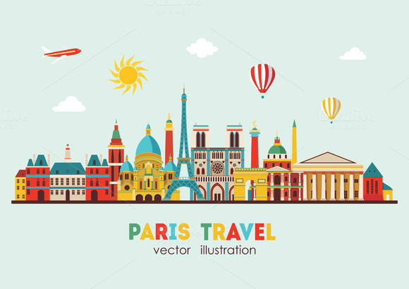 Paris skyline. Vector illustration - Illustrations