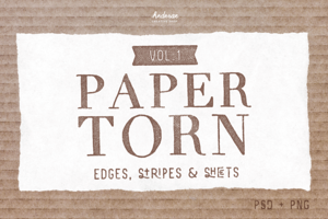 Paper Torn Vol.1 (PSD+PNG)