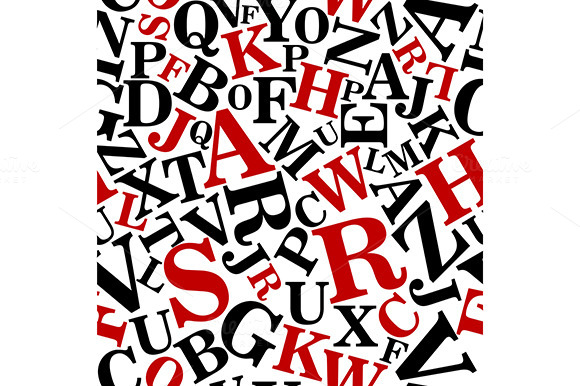 Bold Alphabet Seamless Pattern