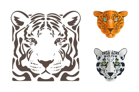 Tiger Jaguar And Leopard Icons