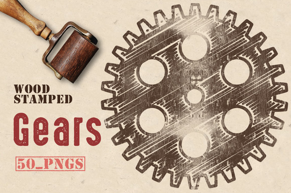 Wood Stamped Gears