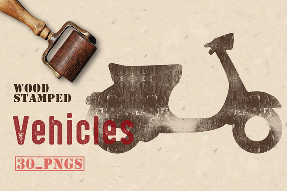 Wood Stamped Vehicles