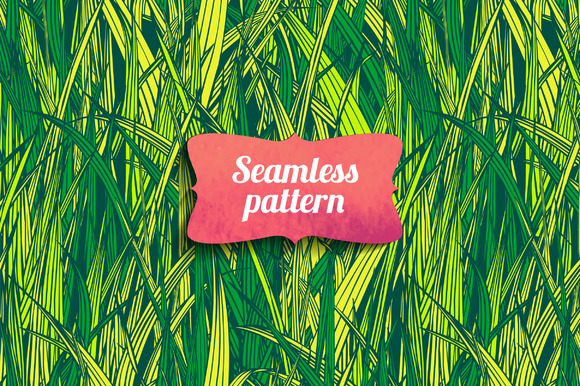 Grass background. Vector - Patterns