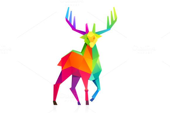 Low Poly Deer Illustration