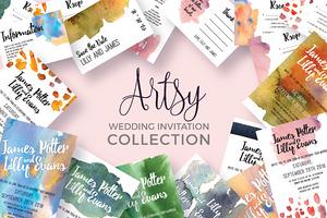 Artsy Wedding Invitation Collection