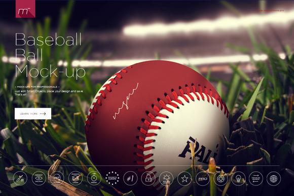 Baseball Ball Mock-up
