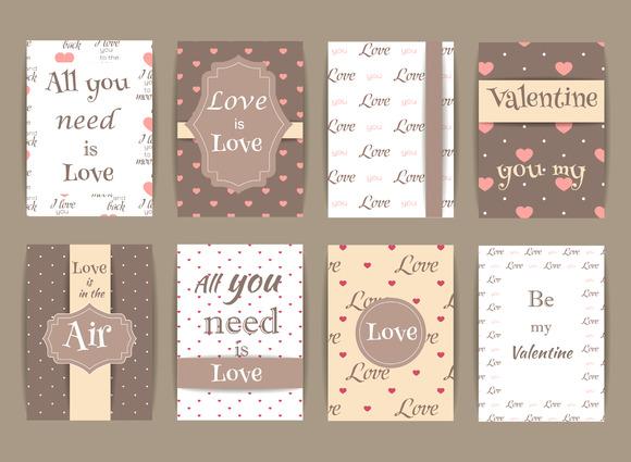 Valentine Greeting cards V.5 - Graphics