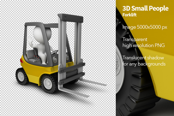 3D Small People Forklift