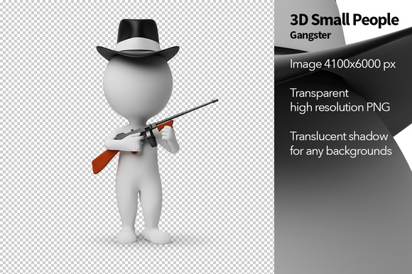 3D Small People Gangster