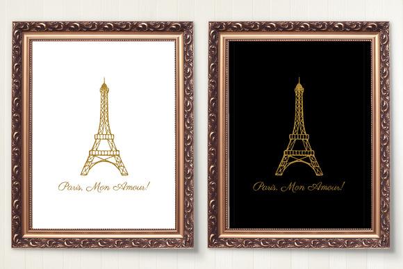 PARIS MON AMOUR Quote Art Print