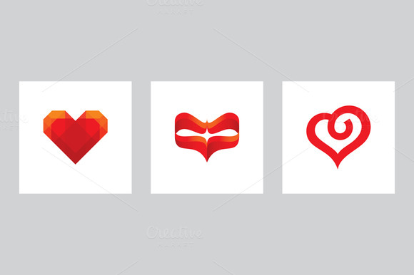 Valentine's Day Heart Vector Signs