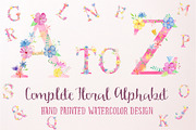Pink Floral Alphabet A to Z-Graphicriver中文最全的素材分享平台