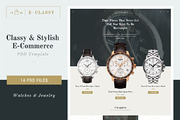 E-Classy - Luxury Shop PSD -Graphicriver中文最全的素材分享平台
