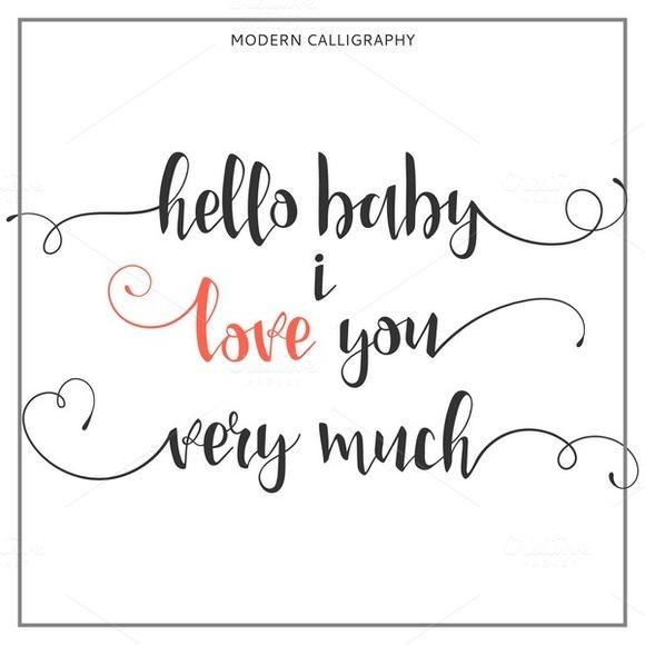 I love you. Calligraphic  - Illustrations