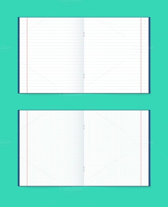 Set Of 2 Opened Notebook