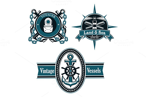 Marine And Nautical Emblems