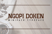 Ngopi-Doken Minipack Typeface