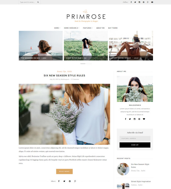 word press blog templates - la primrose wordpress blog theme wordpress blog themes