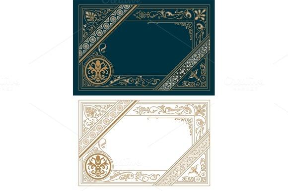 Retro Frame Template Baroque Style