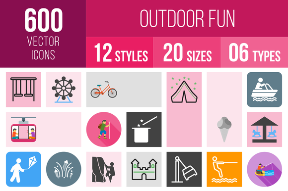 600 Outdoor Fun Icons