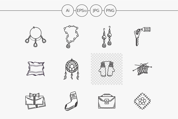 Handmade gift flat line icon. Part 1 - Icons