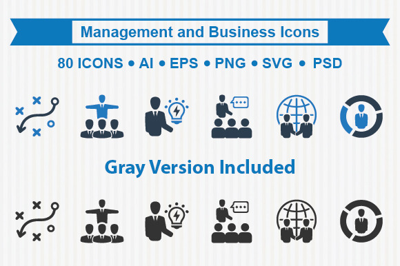 Management And Business Icons