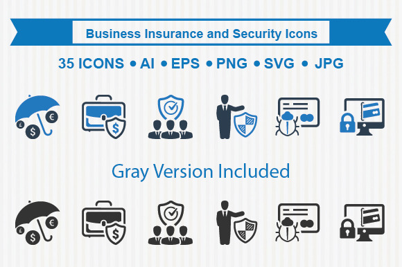 Business Insurance Security Icons