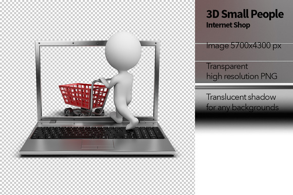 3D Small People Internet Shop