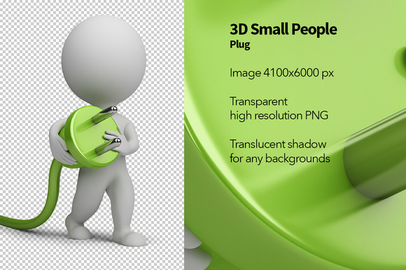 3D Small People Plug