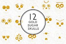 Gold Sugar Skulls