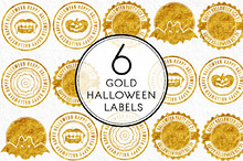 Gold Halloween Labels